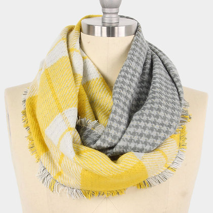 REVERSIBLE PLAID CHECK INFINITY SCARF