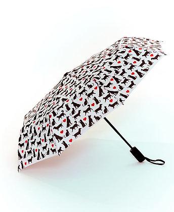 Novelty Printed Umbrella - RAINING CATS & DOGS