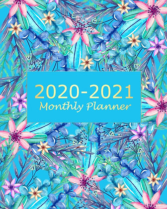 BLUE FLORAL 2 YEAR PLANNER