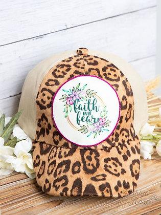 Faith Over Fear - Leopard