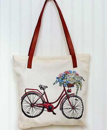 Bicycle Printed Tote Bag
