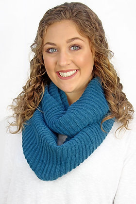 ​  THE CHILL COWL NECK INFINITY SCARF- TEAL
