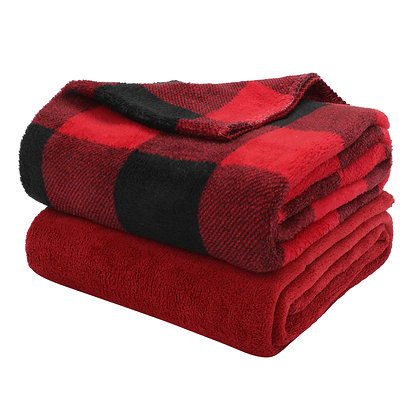 Buffalo Plaid Throw - Red and Black