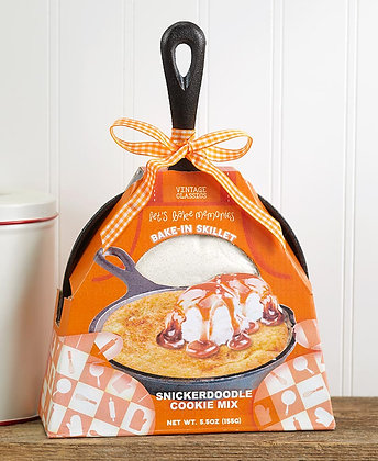 Cast Iron Skillet with Baking Mix -Snickerdoodle
