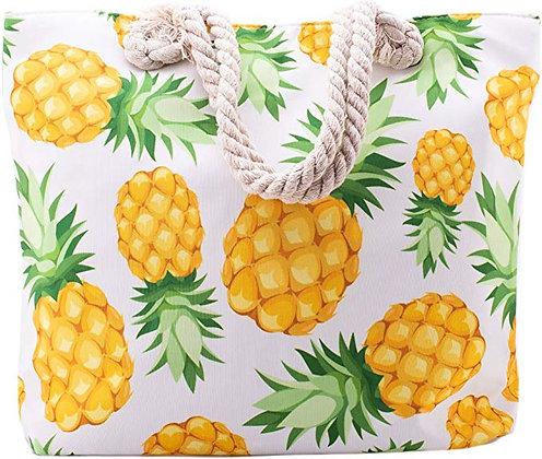 Pineapple Summer Beach Tote Bag