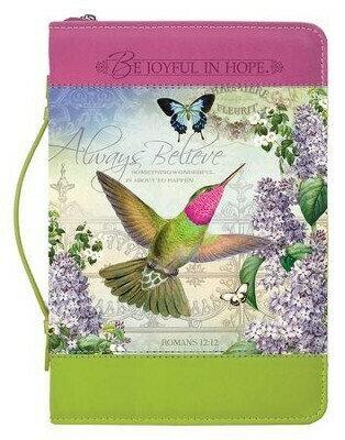 Always Believe Hummingbird Bible Cover