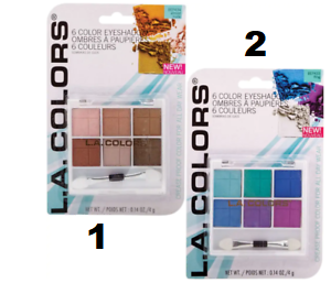 L.A. Colors 6- Color Expressions Eyeshadow Palette