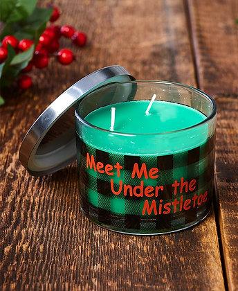 Make Mine Country Plaid Candle-Meet Me under the Mistletoe
