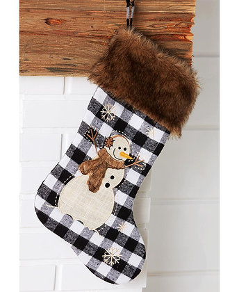 Faux Fur-Trimmed Stocking