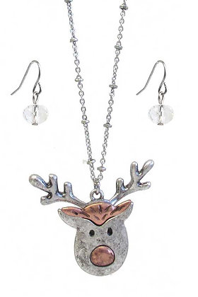 Rudolph Necklace and Earrings Set