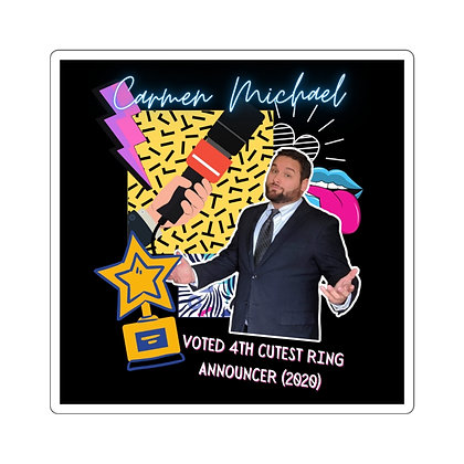 """4th Cutest Ring Announcer"" Sticker"