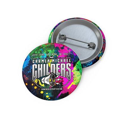 Splatter Logo Pin Buttons