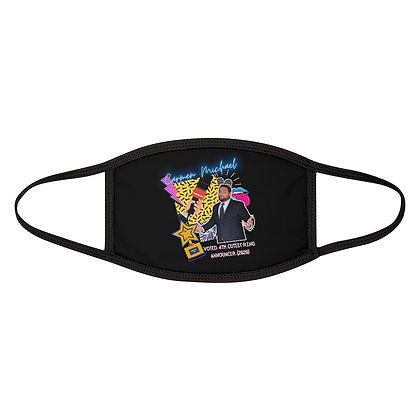 """""""4th Cutest Ring Announcer"""" Mixed-Fabric Face Mask"""