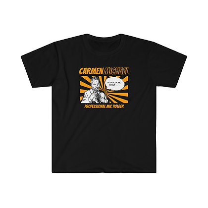 Black/Orange Comic Unisex Softstyle T-Shirt