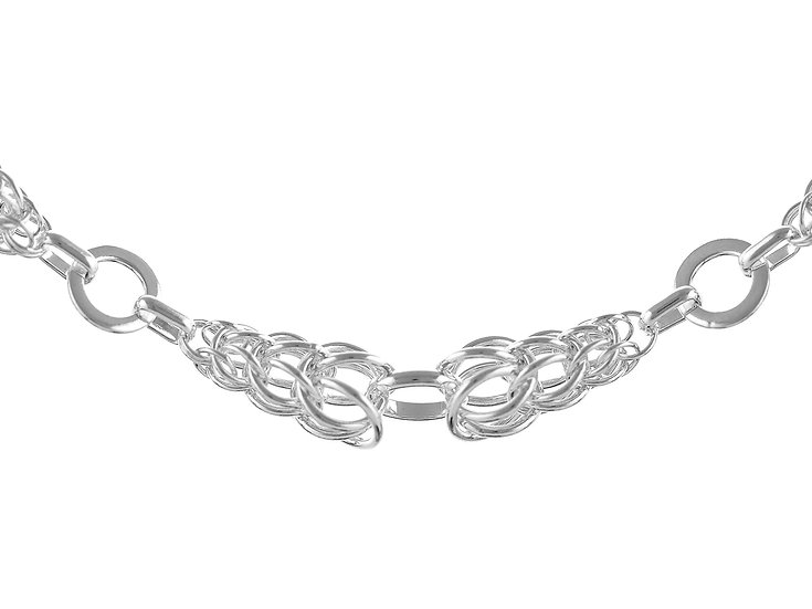 En vie Jewellery Sterling Silver handmade Bracelet 19cm, finished with a lobster catch 9.6mm. Made in the UK