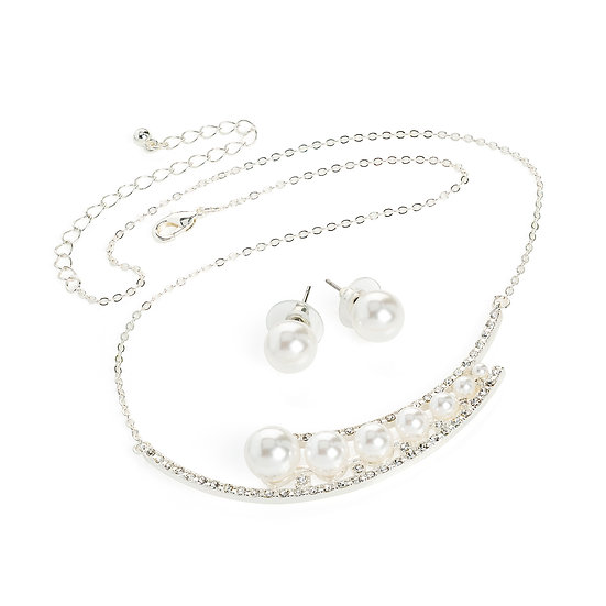 En-Vie™ jewellery A stunning crystal pearl effect necklace and earring set, perfect for bridal events and proms.