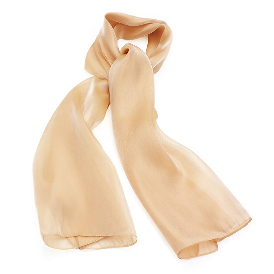 En vie Jewellery Beige colour satin look scarf