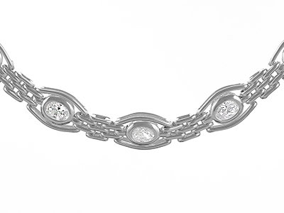 """En vie Jewellery Silver Handmade Gate Bracelet 7.5"""" - 19g"""
