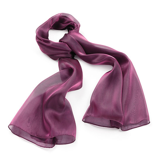 En vie Jewellery Purple colour metallic look scarf