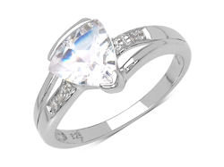 En-Vie™ jewellery Absolutely Stunning Silver White Topaz and Diamond Ring