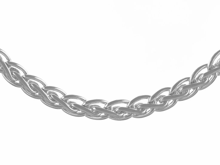 En vie Jewellery Stirling Silver Handmade Necklet 43cm. Made in the UK, finished with end caps and lobster catch