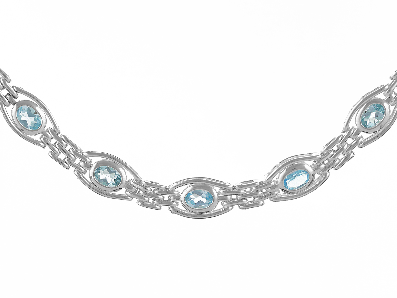 Silver Topaz Bracelet