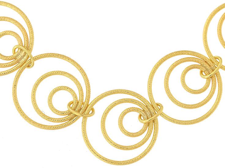 En-Vie™ jewellery 9ct Handmade Bracelet 19cm. This stunning bracelet is6.4mm wide and has a very unique design