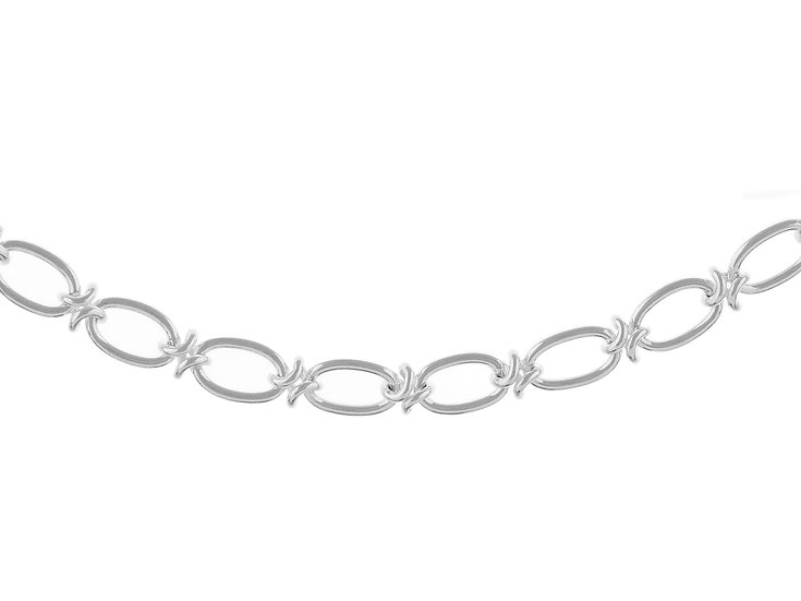 En vie Jewellery Stirling Silver handmade Bracelet 19cm length,intricate design finished with end caps and lobster catch