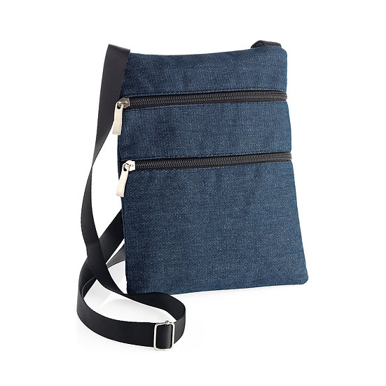 Denim colour cross body bag