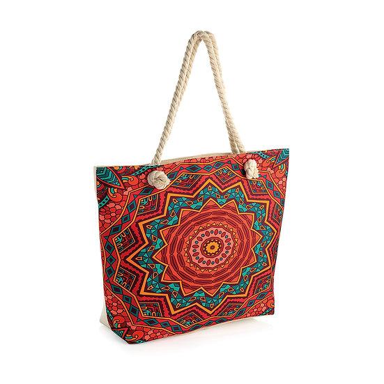 En vie Jewellery Vibrant multi tone rope handle bag