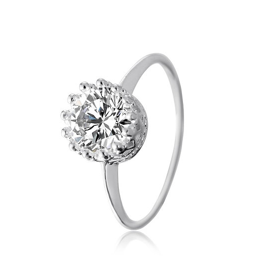 En-Vie™ jewellery Stunning Silver gold round CZ Ring, a beautiful occasion or everyday wear