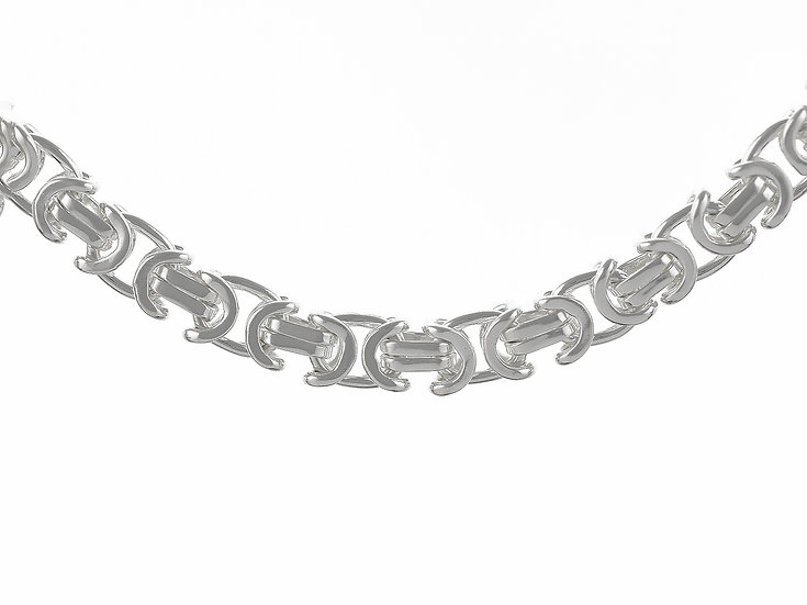En-Vie™ Jewellery Sterling Silver handmade Bracelet19cm length,finished with end caps and lobster catch