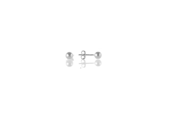 En-Vie™ jewellery Silver 5mm Plain Studs, Approx. weight 0.7 GMS, includes quality scrolls