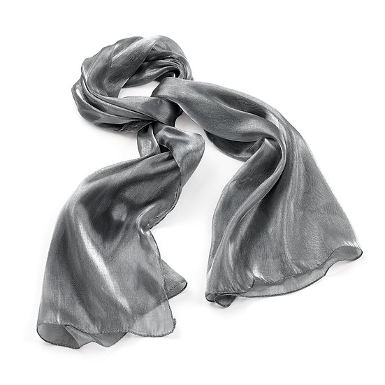 En vie Jewellery Silver grey colour metallic look scarf