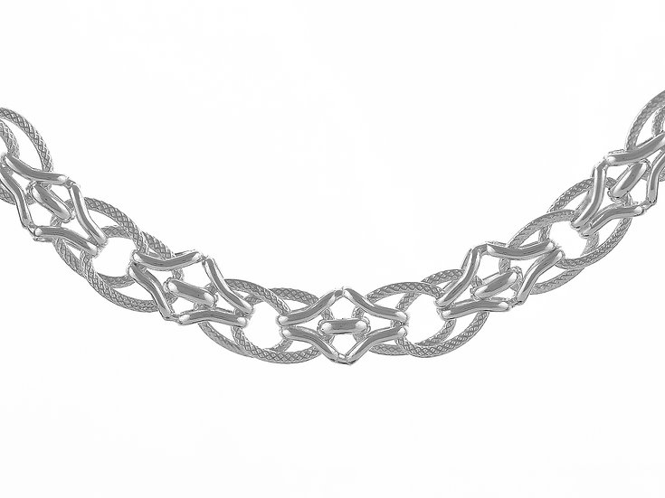 En vie Jewellery Sterling Silver handmade Bracelet 19cm length,finished with end caps and lobster catch9mm