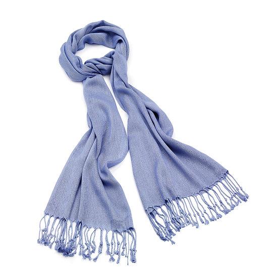 En vie Jewellery Lilac colour pashmina style tassel scarf