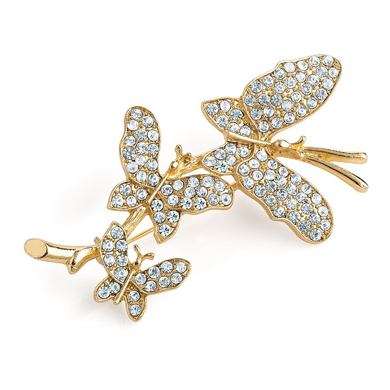 Gold colour butterfly design brooch