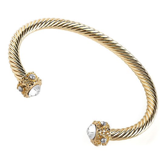Gold colour twist effect adjustable bangle