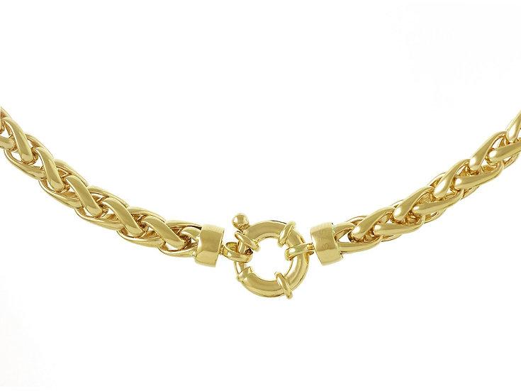 En vie Jewellery 9ct handmade Bracelet, with Designer Bolt 19cm length, 5mm width. Made in the UK