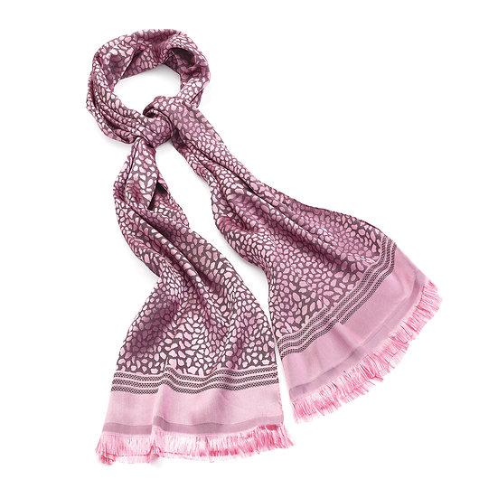 En vie Jewellery Pink tone colour animal print tassel Scarf