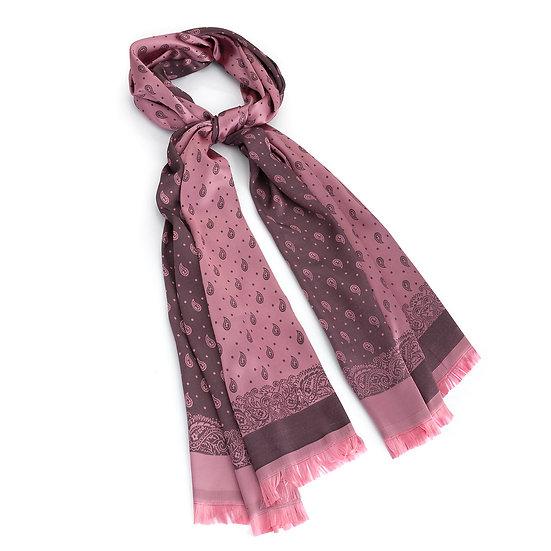 En vie Jewellery Metallic pink paisley print scarf