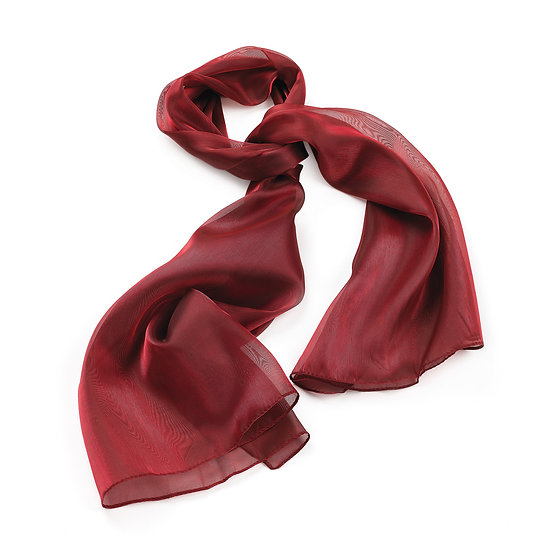 En vie Jewellery Burgundy colour metallic look scarf