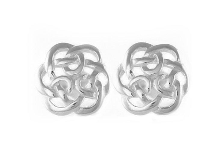 En-Vie™ jewellery Silver 5.5mm Celtic Stud EarringsApprox. Weight1.37 GMS