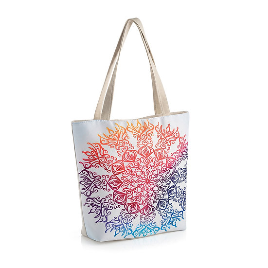 En vie Jewellery Beige multi colour design bag