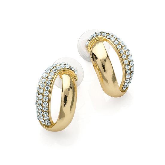 En vie jewellery shiny gold colour crystal stud earring