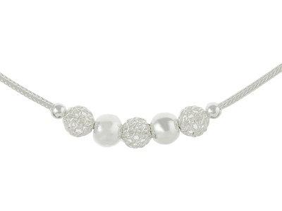 """En-Vie™ jewellery Silver Fancy Necklet, 5.8mm18"""" -A delightful piece of jewellery"""