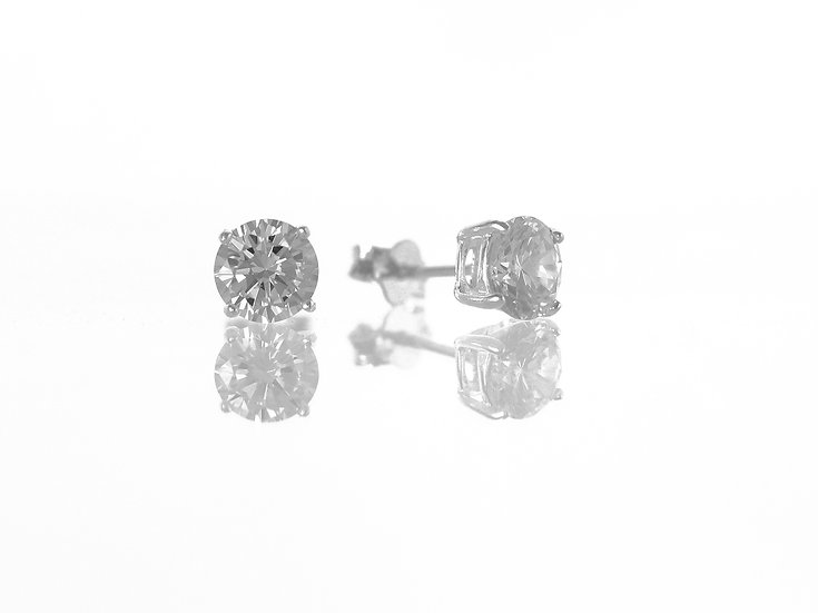 En-Vie™ jewellery Silver Round CZ Stud Earrings, 6mm...Beautiful studs and extremely good value for money