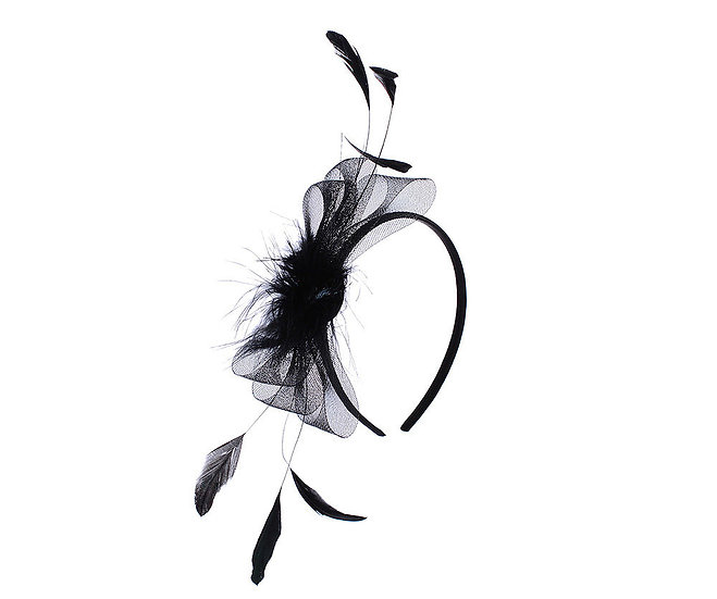 En-Vie™ Jewellery Black Fur and Feather Fascinator, this headpiece is the perfect finishing accessory for a special occasion
