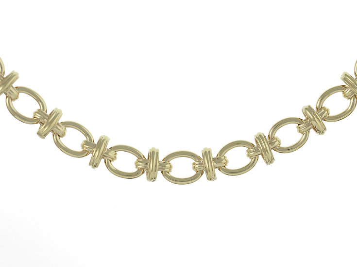 En-Vie™ jewellery 9ct Handmade Bracelet, 19cm length, finished with a designer bolt ring