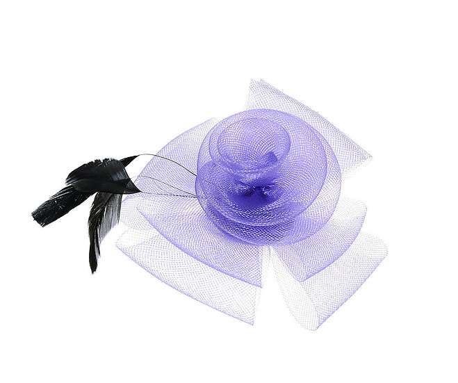 En-Vie™ jewellery This lovely purple and feather headpiece features a simple flower with black feathers & a 6cm hair clip.